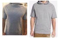 EUC, Men's Zanerobe short sleeve hoodie, size Small Light grey, zipper detail on both sides  Bought at Nordstrom for $60 152nd and 19 ave, South Surrey  $10 cross posted