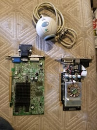Two video PCIE video cards and desktop cam