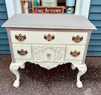 Stunning solid wood clawfoot console table buffet server gray antique white Rockville, 20855