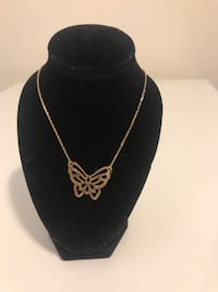 French gold necklace with a magnificent butterfly 1153 mi
