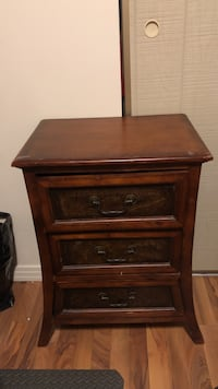brown wooden 2-drawer nightstand Calgary, T2V 0H7