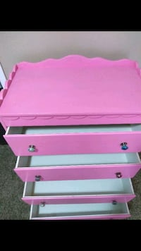 pink and white wooden 2-drawer chest San Antonio