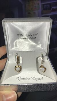 14kt Gold and sterling silver earrings