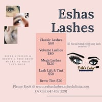 MOBILE & HOME BASED CERTIFIED LASH TECH Toronto