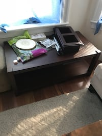 rectangular brown wooden coffee table Boston, 02128