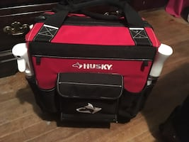 Pivot point gear and a Husky tool bag( used for cosmo school)