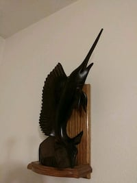 Hand carved sword fish with shelf Medford, 97501