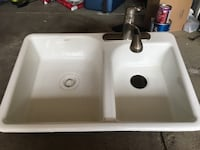 white ceramic sink with faucet Lancaster, 14043