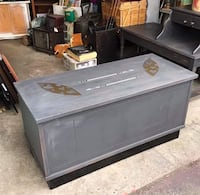 gray and black wooden cabinet