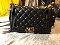 quilted black leather crossbody bag Oakland, 94606