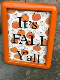 It's FALL y'all orange small sign Hillsboro, 97003