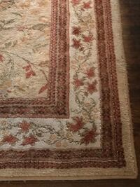 Brown and white floral area rug Red Bank, 07701