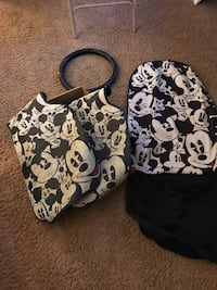 white and black floral tote bag Harrison Township, 48045