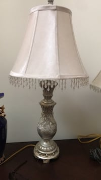 white and brown table lamp Accokeek, 20607
