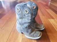 Ariat brown charger kid boots size 10.5