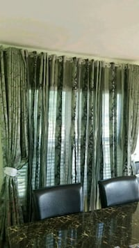 Green and silver curtains  54 km