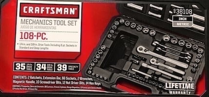 Craftsman 108pc mechanical tool set new in case
