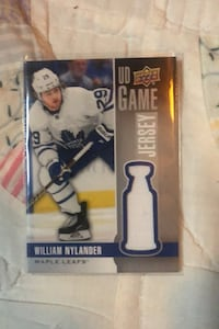 William nylander game used jersey card