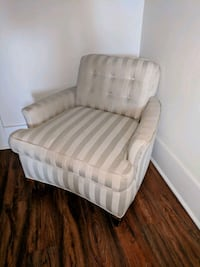 white and gray striped fabric sofa chair Wilmington, 28411