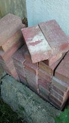 Red bricks different shapes