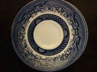 3 Blue Willow Saucers