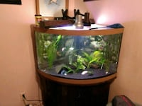 brown wooden framed fish tank Surrey