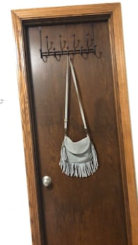 Borse in pelle gray suede genuine leather purse with tassels Omaha, 68124