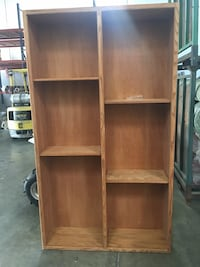 Solid wood book shelve