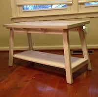 Small White Wood Coffee Table Herndon