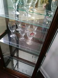 clear glass display cabinet with brown wooden frame Clifton Heights, 19018