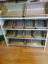 Kids toy bin storage