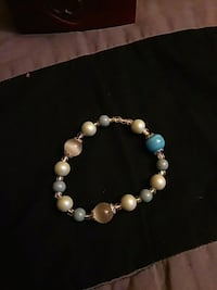 white and blue beaded bracelet Puyallup