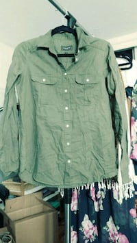 Olive-green Express button down shirt Alexandria, 22304