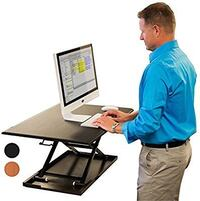 Stand Up Desk Store Air Rise Standing Desk Converter Sit to Stand with your current Desk in Seconds, Black Cincinnati