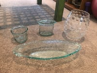 Assorted glass vases/dish Meridian, 39305