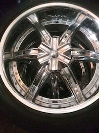 4 tires with crome rims. 6 lug universal Las Vegas, 89147