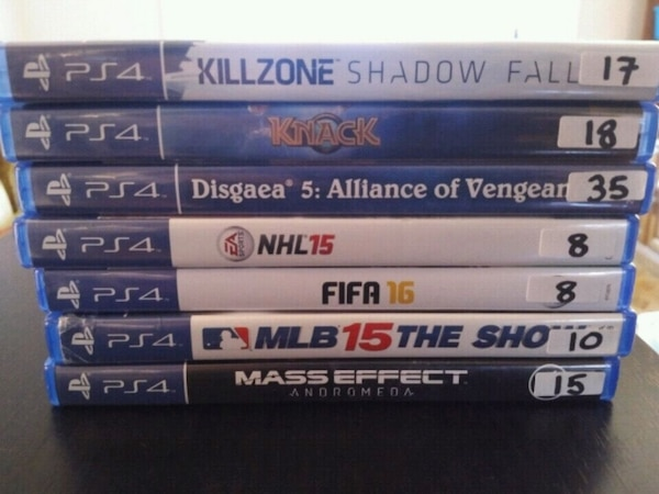 PS4 games for sale individually