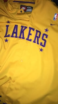 4 xl yellow nike los angeles lakers jersey