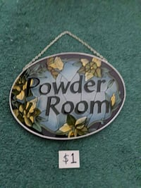 Stained Glass Powder Room hanging sign Mississauga, L5M 4S9