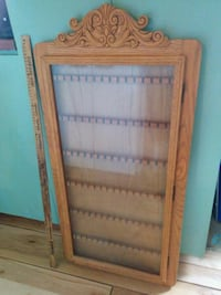 Large wall display cabinet for spoons. Made in Canada