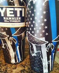 blue and black Yeti Rambler 30 oz tumbler Houston, 77090