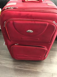 Suitcase luggage for travelling, in used condition