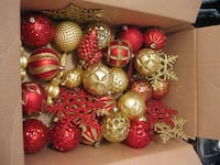 Box of Christmas ornaments VANCOUVER