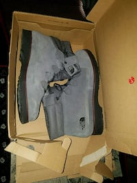 pair of gray Timberland work boots Frankford, 19945