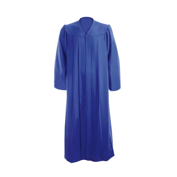 royal blue grad gown