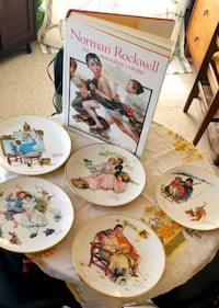 Norman Rockwell book and plates