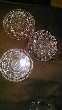 three glass saucer plates Gaithersburg, 20886