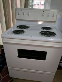 "Frigidaire white 30x28"" electric coil top stove"