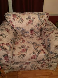 white, red, and green floral sofa chair Cary, 27513