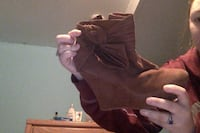 women's brown suede wedge boot Hopewell Junction